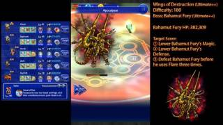 Final Fantasy Record Keeper - (Ultimate++ Boss 11: Bahamut Fury)