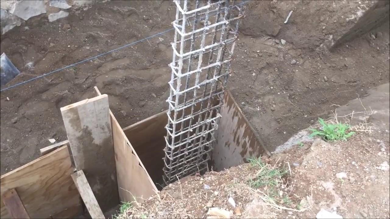 como hacer los cimientos de una casa youtube