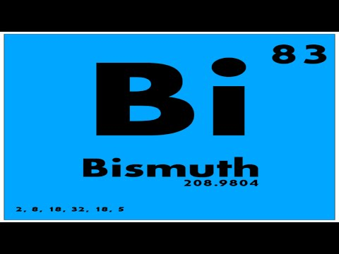 Study guide 83 bismuth periodic table of elements youtube study guide 83 bismuth periodic table of elements urtaz Choice Image