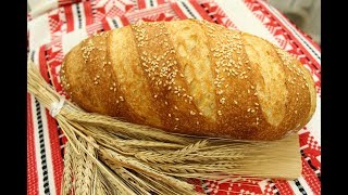 ДОМАШНИЙ ГОРЧИЧНЫЙ БАТОН на закваске / ПРОСТОЙ рецепт по ГОСТу в духовке / нарезной хлеб без дрожжей