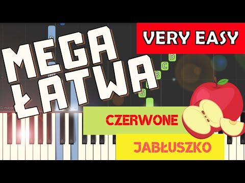 🎹 Czerwone jabłuszko - Piano Tutorial (MEGA ŁATWA wersja) 🎹