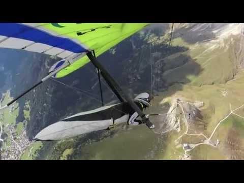 Col Rodella, Dolomites quite turbulent Hang Gliding Sept. 2014