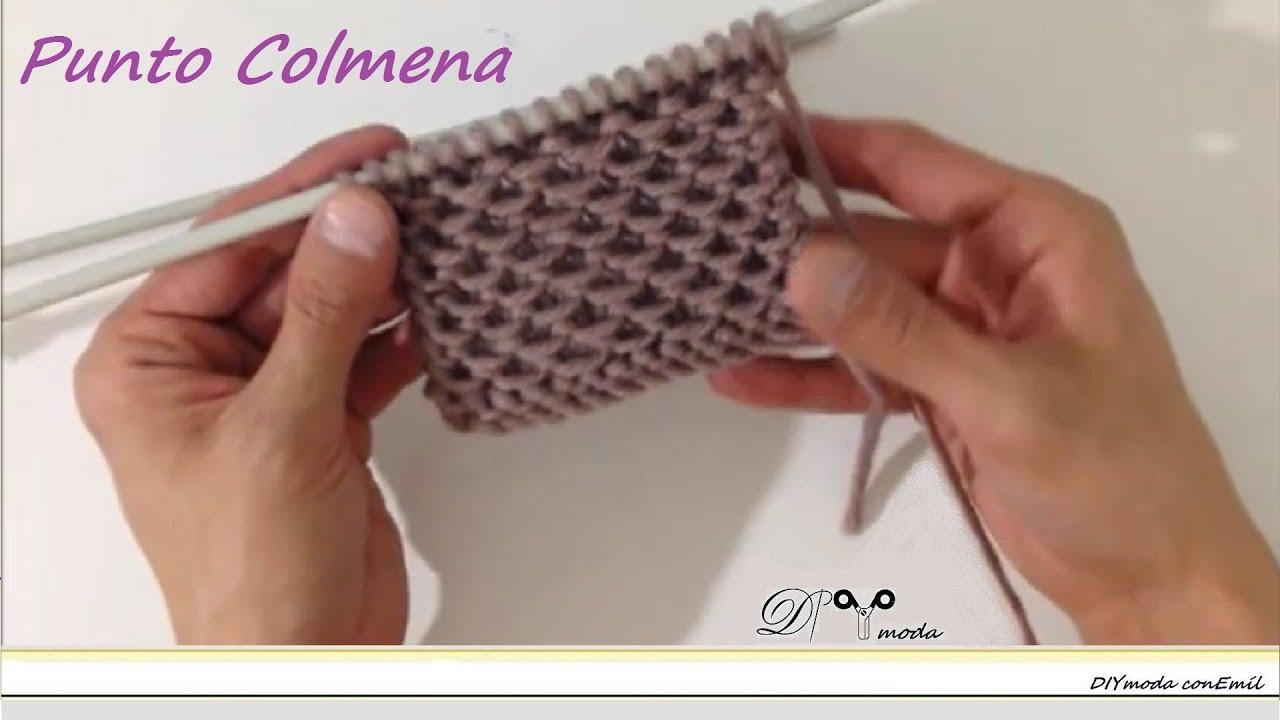 Cómo tejer el punto Colmena o punto Pañal - YouTube