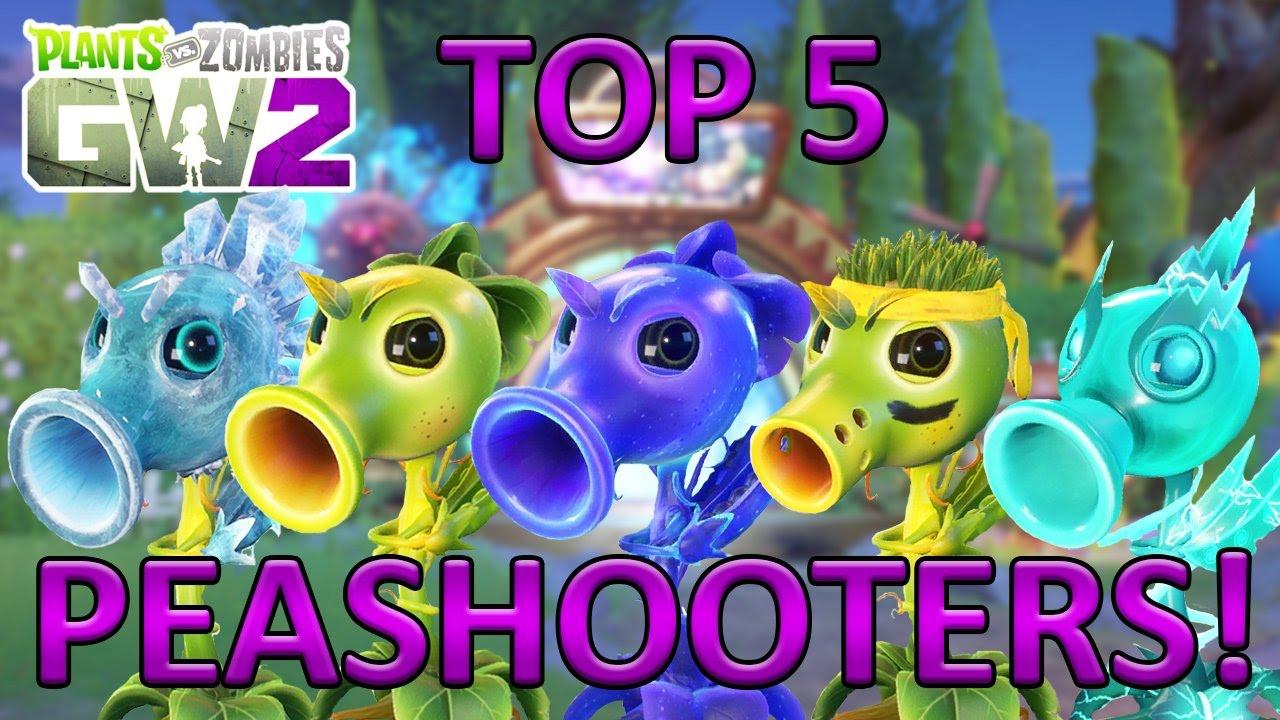 TOP 5 PEASHOOTERS - Plants vs Zombies Garden Warfare 2