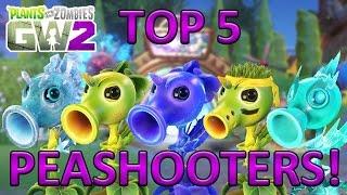 """TOP 5 PEASHOOTERS - Plants vs Zombies Garden Warfare 2 """"Top 5 Characters"""" Video"""