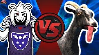 Repeat youtube video ASRIEL DREEMURR vs GOAT SIMULATOR (Undertale vs Goat Simulator) Cartoon Fight Club Episode 172