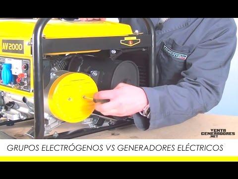 Generadores Eléctricos Vs Grupos Electrógenos. Diferencias.