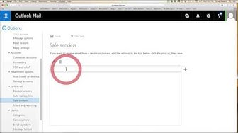 How to add to 'Safe Sender' list - Outlook, Homail, Live