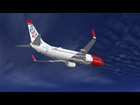 *Virtual Norwegian* PMDG 737NG LN-NOL Oslo ENGM- Kirkenes ENKR - Oslo  //Sunday Live//