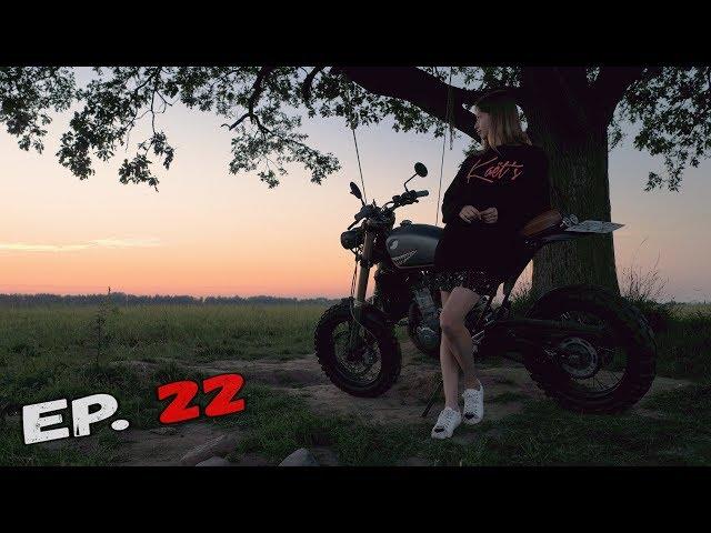 Episode 22 - Покрасил корч мовилью.  DR-Z 400 Scrambler.