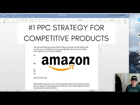 The #1 PPC Strategy For Competitive Products On Amazon in 2017