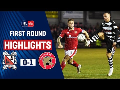 Lavery Winner Sends Walsall Through | Darlington 0-1 Walsall | Emirates FA Cup 19/20