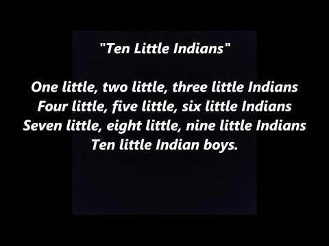 10 Ten Little Indians Injuns LYRICS WORDS BEST TOP POPULAR FAVORITE TRENDING SING ALONG SONGS