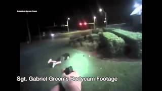 graphic police bodycam video showing shooting of armed suspect