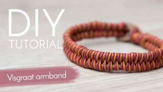 Sieraden maken met Kralenwinkel Online - Visgraat armband