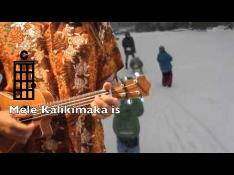Ukulelevis Mele Kalikimaka Chords Lyrics Key Of C Youtube