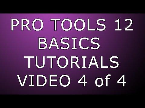 Pro Tools 12 Basics Routing Mixing Bouncing & Exporting