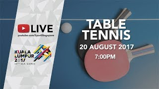 Table Tennis Men's Women's Mixed Doubles Finals | 29th SEA Games 2017