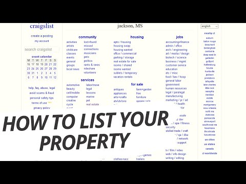 How To List Property For Sale On Craigslist (FSBO) For Sale By Owner