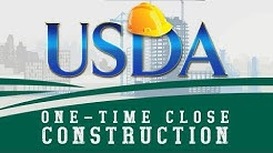 One-Time Close USDA Construction Loan
