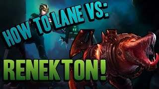 Riven VS Renekton | How to counter (English Gameplay) | League of Legends
