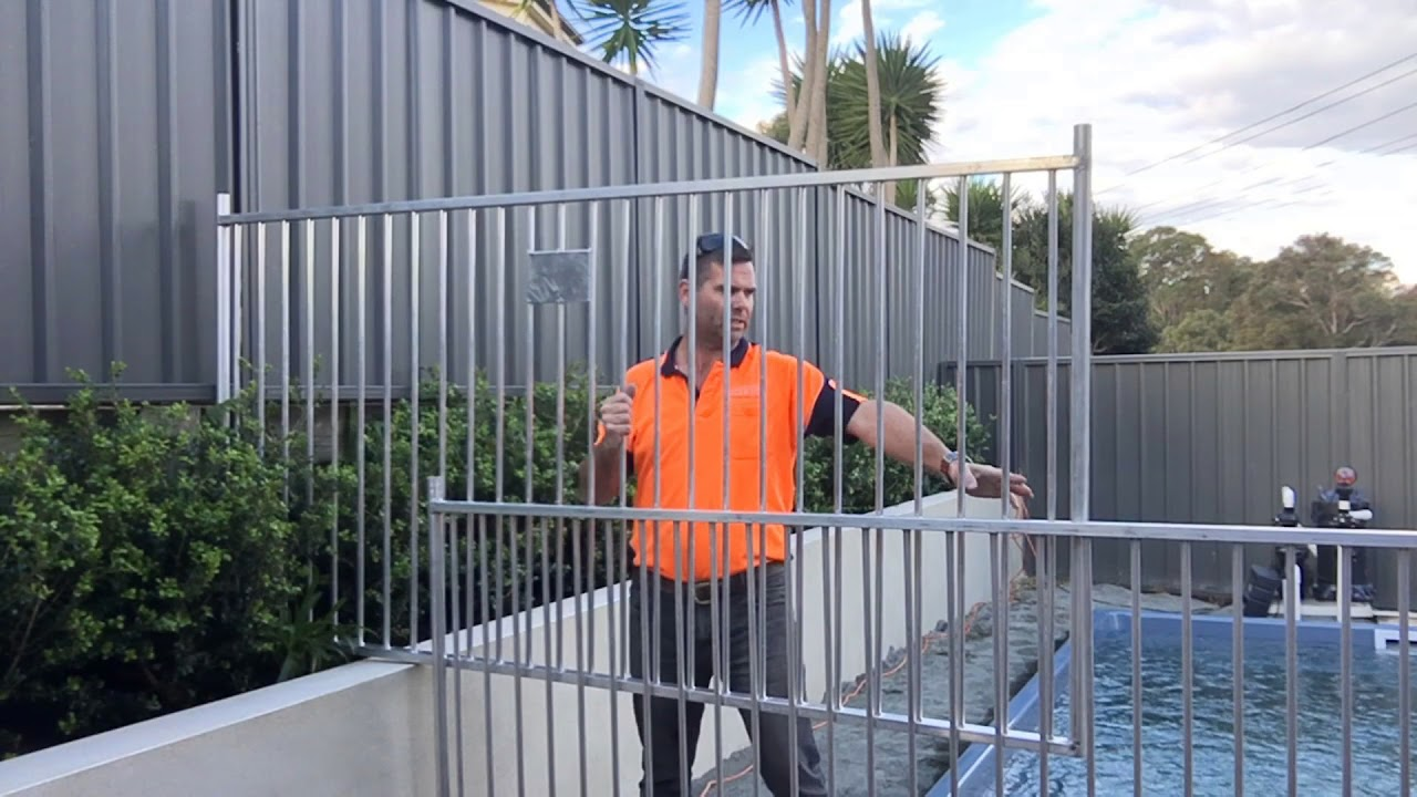 Pool Fence Dealing With A Retaining Wall Youtube