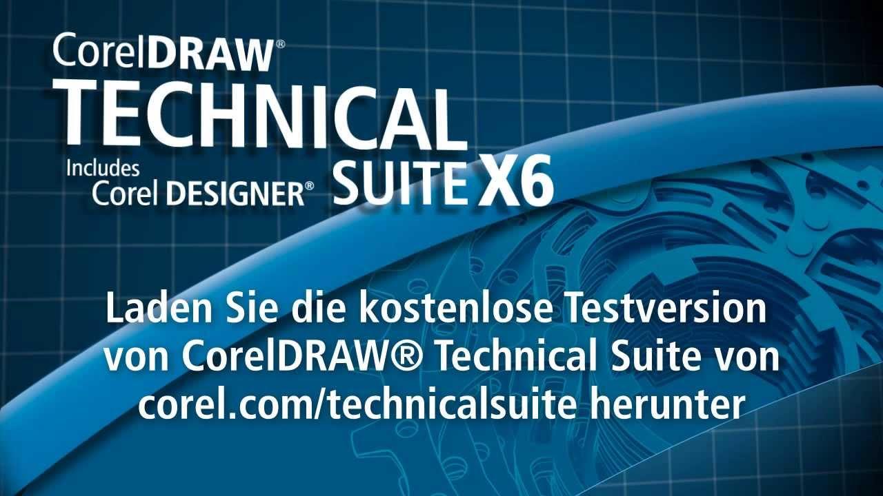 coreldraw technical suite x6 einf hrung deutsch youtube. Black Bedroom Furniture Sets. Home Design Ideas