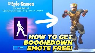 How To Get The BOOGIE DOWN Emote for FREE in FORTNITE!