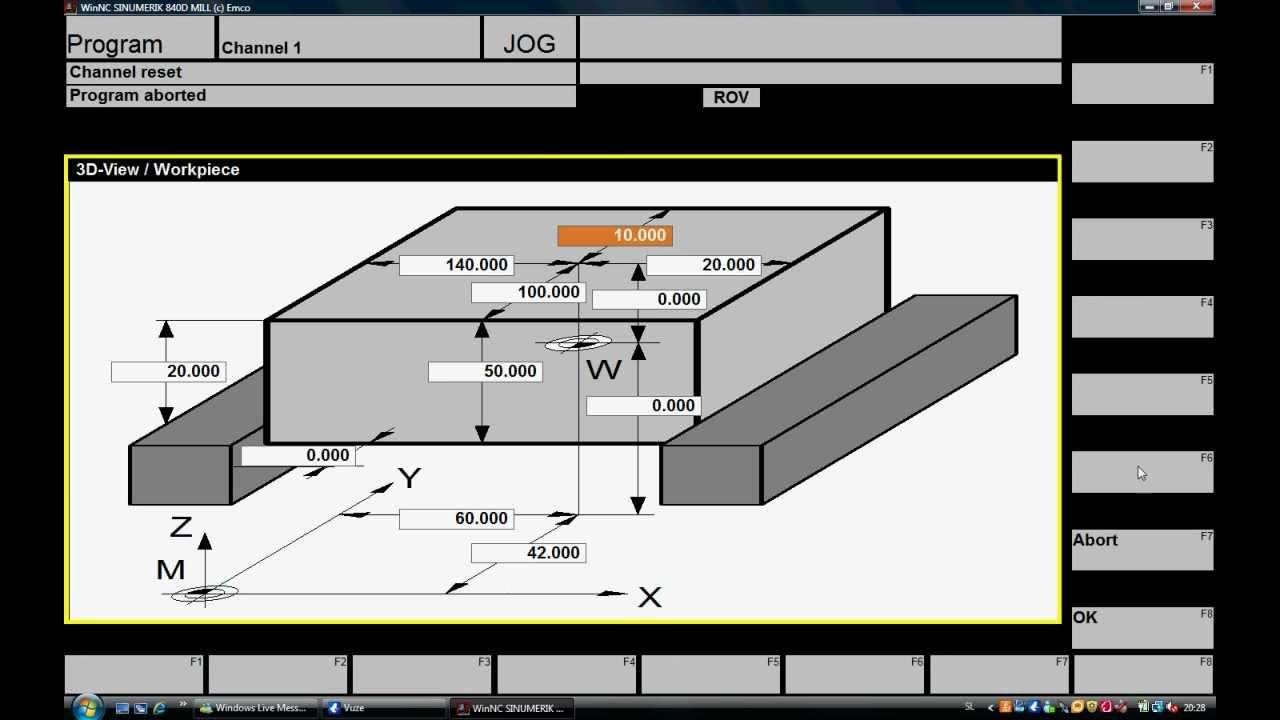 cnc programiranje izpitna naloga avi youtube. Black Bedroom Furniture Sets. Home Design Ideas