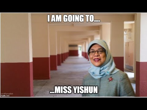 President Halimah Yacob leaving her Yishun Flat