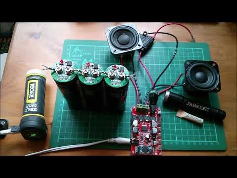 It works! Supercapacitor Powered Bluetooth Speaker