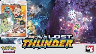 Pokemon Hunt for Professor Elm's Lecture Full Art - Lost Thunder Booster Box Opening