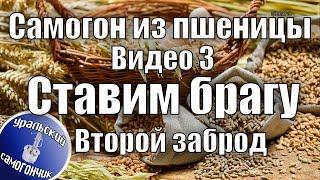 Самогон из пшеницы. Видео 3. Второй заброд на одной и той же браге.(Второй раз поставили брагу на одной и той же пшенице, использовали барду после первой перегонки. Брага отиг..., 2016-04-25T16:06:39.000Z)