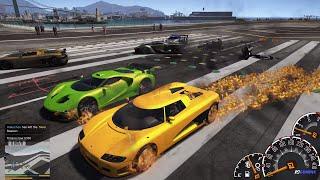 GTA 5 Ghost Rider Mod - Lấy xe Batmobile biến thành lửa và đua xe ở sân bay | ND Gaming