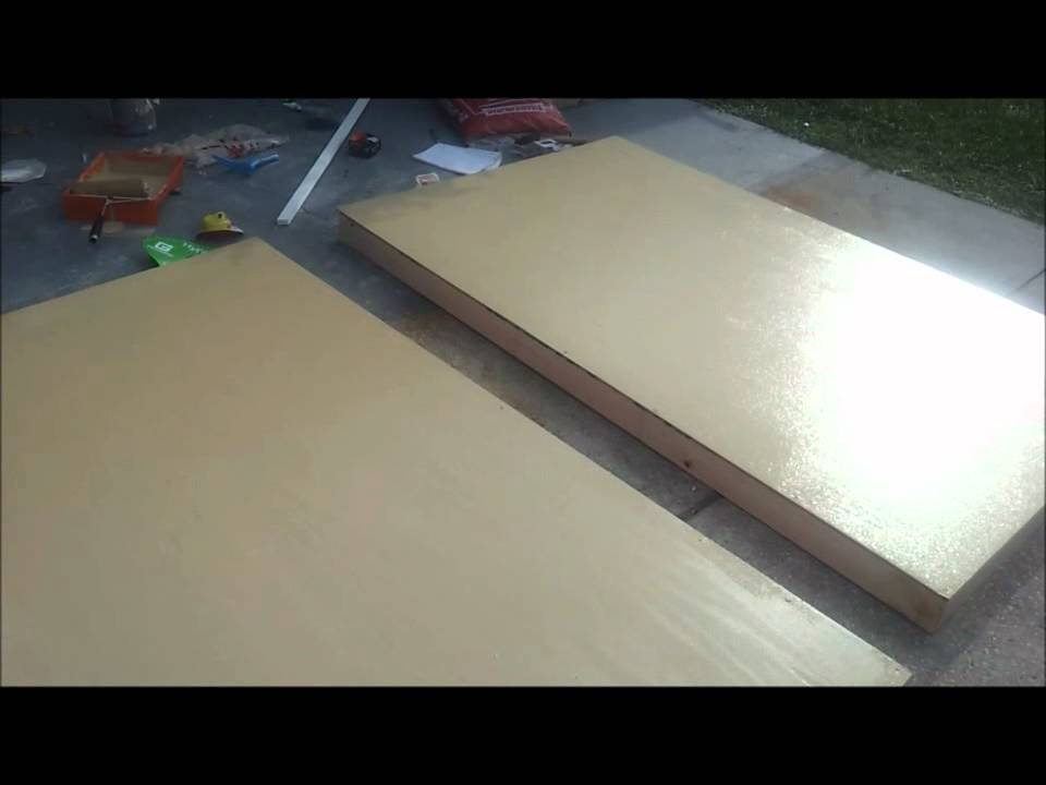 How to make a wood garage door youtube for Garage side door and frame