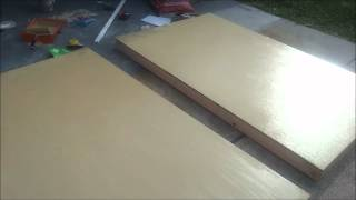 how to make a wood garage door