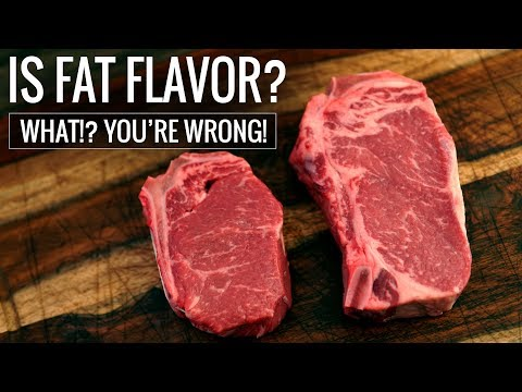 Is FAT FLAVOR? What!? You ARE WRONG! Steak Fat EXPERIMENT