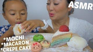 asmr-mochi-macaron-amp-crepe-cake-relaxing-eating-sounds-n-e-let39s-eat