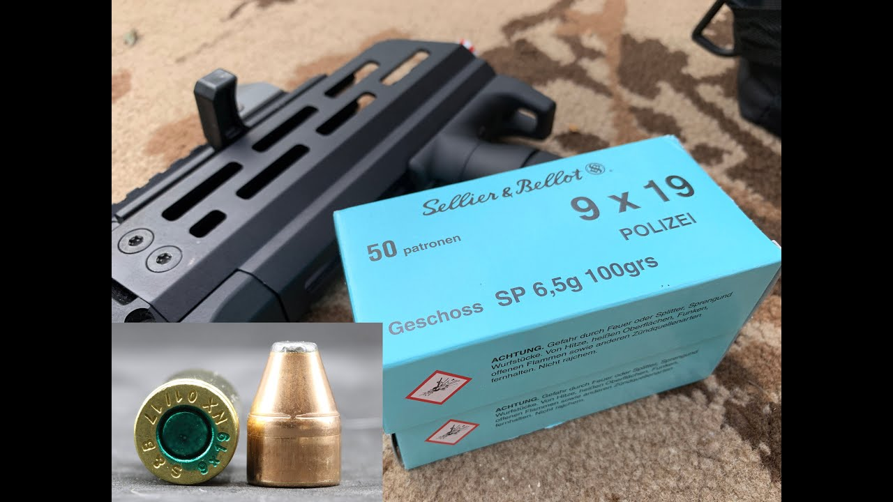 9x19mm, 100gr JSP, Sellier and Bellot, Police