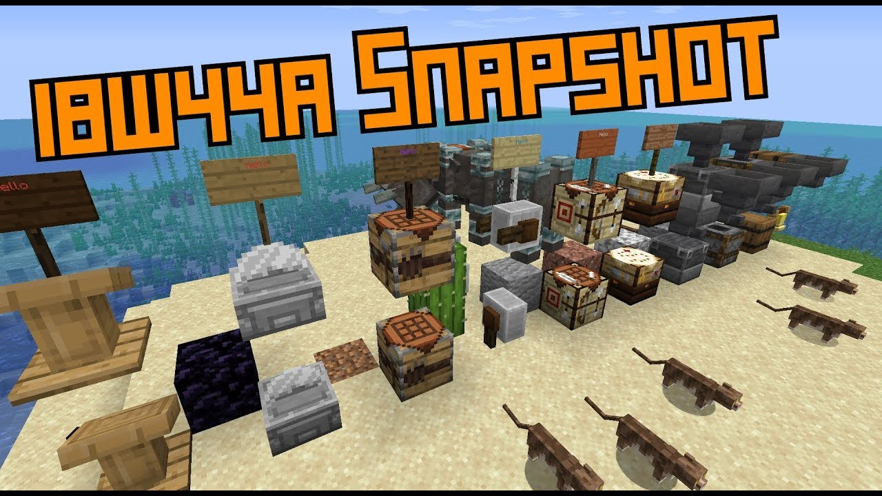 1 14 Snapshot 18w44a New Crafting Tables Cats And Loots Youtube