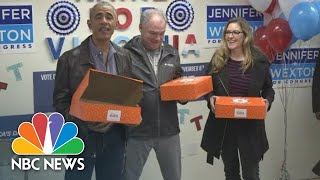 Former President Obama Tells Campaign Workers The Country's 'Character' Is On The Ballot | NBC News
