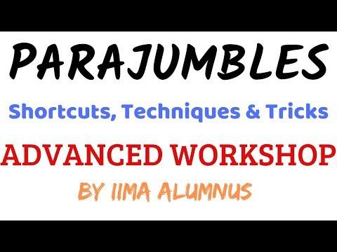 Parajumbles Tricks, Techniques & Shortcuts | Advanced Workshop | CAT & OMET