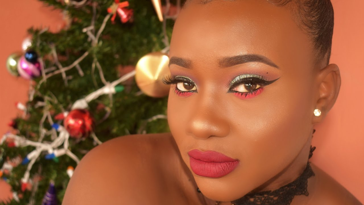 Christmas AF Makeup Look - YouTube