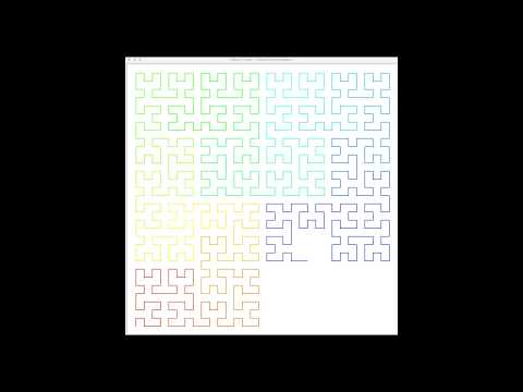 Colored Hilbert Curve – Learn Programming with Python and Turtle