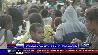 Diteror KKB, Ratusan Warga Timika Papua Mengungsi