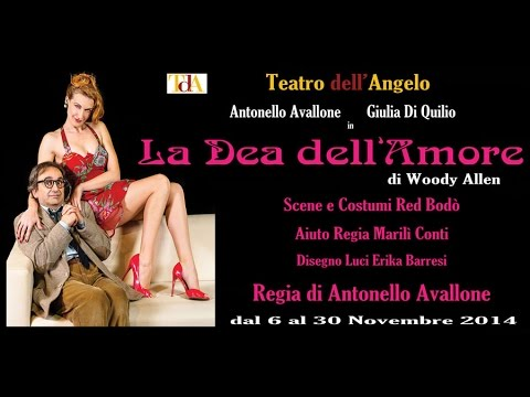 'La Dea dell'amore' al Teatro dell'Angelo con Antonello Avallone e Giulia Di Quilio