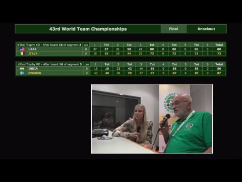 43th World Bridge Championships - FF3 - FRANCE vs USA2