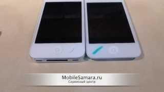 Сравниваем оригинальный экран iPhone 4 и копию.