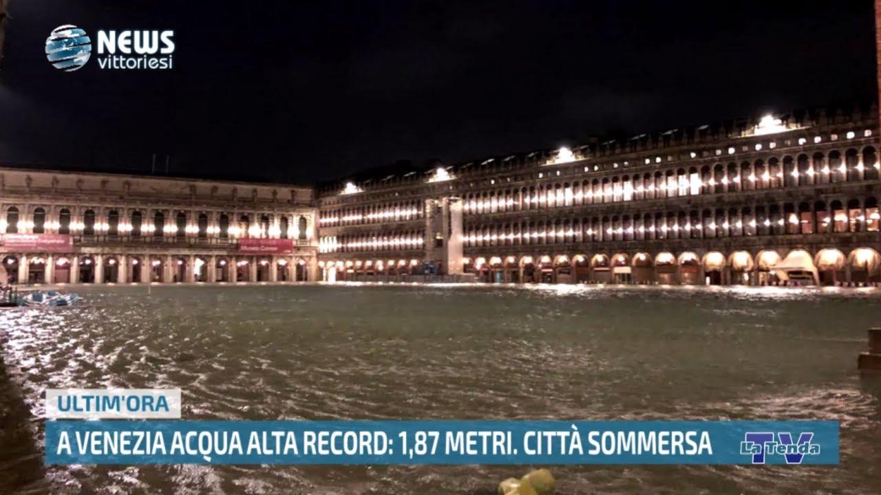 News vittoriesi - A Venezia acqua alta record. Città sommersa
