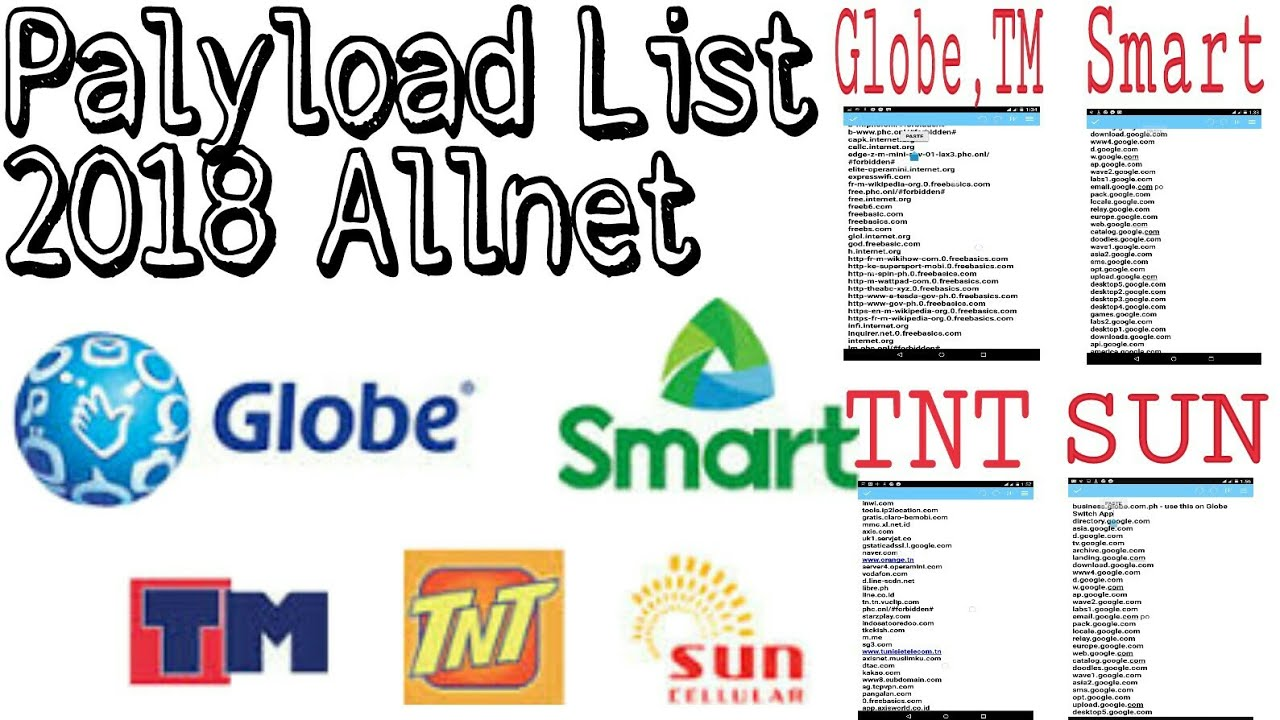 Payload List 2018 allNet for Injector, eproxy and VPN
